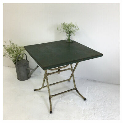 Industrial Vintage French Antique Folding Patio Rustic Garden Table