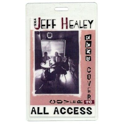 Jeff Healey authentic 1995 concert Laminated Backstage Pass Cover to Cover Tour