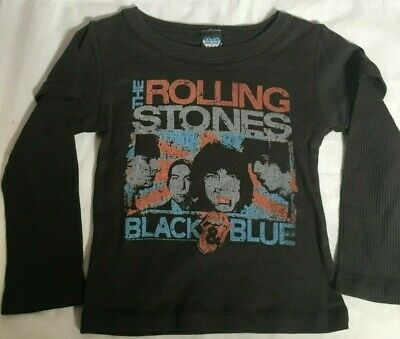 THE ROLLING STONES Junk Food Boys T-Shirt Black & Blue Ages 18-24 Months Toddler