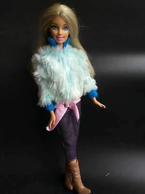 New  2 in 1: (Blue Overcoat + jeans ) Skirt&Clothes for 1/6 (11.5inch) BJD Doll