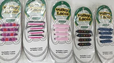 3 x VOLLEY LACES Mens Womens Shoes Dunlop Volleys Pink White Blue Black Fun !