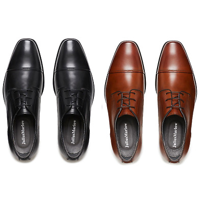 Mens Julius Marlow Knock Leather Black Cognac Men's Lace Up Formal Dress Shoes