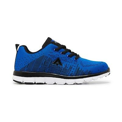 Kids Aerosport Boost Youth Blue Black Casual Sneakers Trainers Running Shoes
