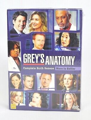 Brand New & Sealed Grey's Anatomy Complete 6th Season Dvd Region 2  Suomi Danish