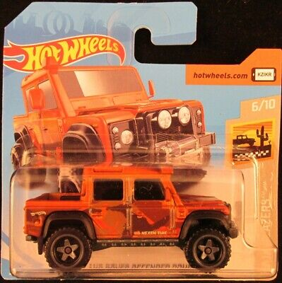 Hot Wheels '15 Land Rover Defender Double Cab COPPER #14 2019 new on short card