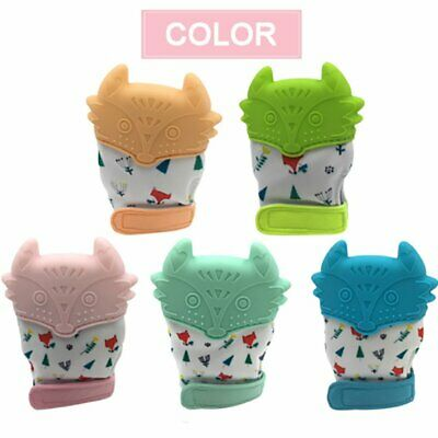 Fox Baby Teething Self Soothing Pain Relief Stimulating Teether Toy Gloves AU