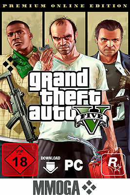 Grand Theft Auto V Premium Online Edition - PC Rockstar Juego Digital GTA5 UE/ES