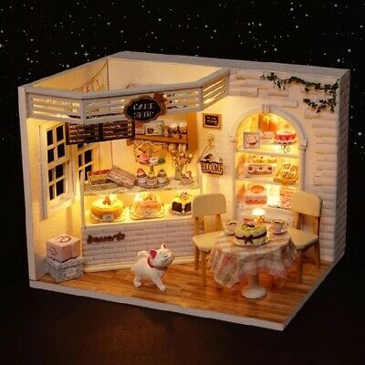 DIY Miniature Cake Bakery Dollhouse Kit Mini Free Postage House Room Local Aus