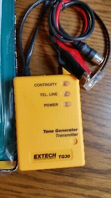 Extech Wire Tracer Kit TG30 Tone Generator and Probe Locates Phone Coax Cables