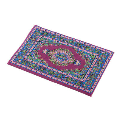 1:12 Miniature Woven Carpet Turkish Rug For Doll House Hot Accessory Decora N6V1