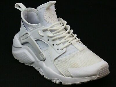 d49f3c78c4 Kids Junior Nike Huarache White Leather Look Mesh Sports Fitness Trainers  Size 4