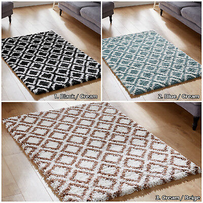 Modern Small Large Rug - Thick 5Cm Pile Non Shed Shaggy Rugs Area Low Cost Mats