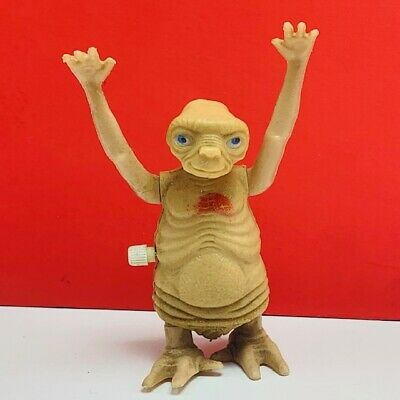 ET extra-terrestrial action figure toy vintage E.T. alien 1982 LJN wind up walk