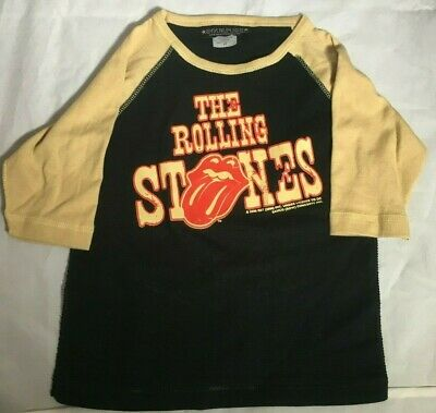 THE ROLLING STONES SourPuss Boys 3/4 Sleeve Raglan T-Shirt Ages 4 4T Toddler