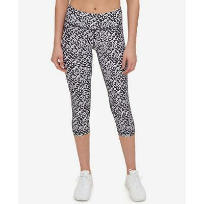 a4f3922a8cf87 Tommy Hilfiger Womens B/W Cropped Yoga Running Athletic Leggings L BHFO 8390