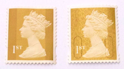 100 Unfranked First Class Gold Stamps Off Paper. Face Value £70