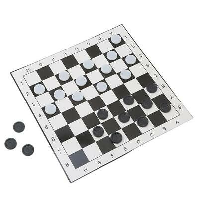 Childrens 2 Player Traditional Modern Family Kids Checkerboard Paper Boardgame D