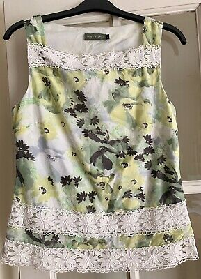 475331ceeff8 Womens MINT VELVET Yellow, Green & Cream Floral Cotton & Silk Top ...