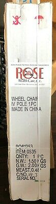 (1) Rose Medical Products Wheelchair IV Pole