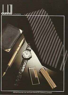 1978 DUNHILL LONDON  advert from a Vintage Punch magazine. November 1978.
