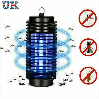 220V Electric Mosquito Fly Bug Insect Trap LED Night Lamp Killer Zapper UK Plug