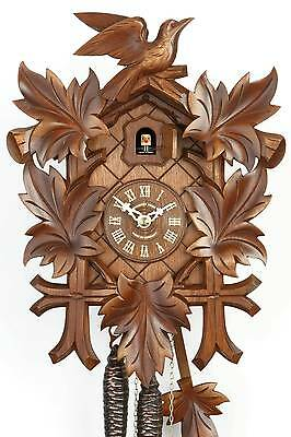 Hubert Herr,  Black Forest  made 1 day mechanical weight driven cuckoo clock.