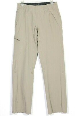 The North Face Womens Pants Small S Convertible Roll Up Hiking Cargo Khaki Nylon