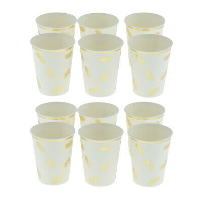 12pcs Disposable Tableware Paper Cup Wedding Birthday Party Drinking Cups