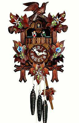 Hubert Herr,  lovely Black Forest made new musical 1 Day cuckoo clock.