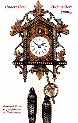 Hubert Herr,  Black Forest, new Railway house style cuckoo clock ( Bahnhausle).