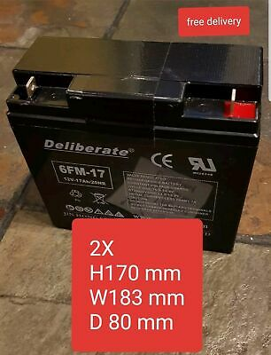 2X Battery 6FM-17 12V 17AH /20hr (17AH 18AH 19AH 21AH 22AH) Rechargeable Battery