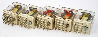 Lot of 5 - KHU-17A11-120 AMF Potter & Brumfield 120V Coil Ice Cube Relay 4PDT 3A