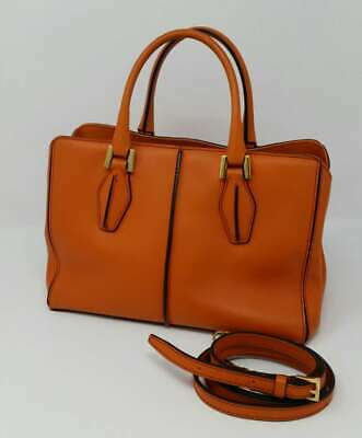 e4458a4973 Tods D Styling Orange Leather Mini Tote Shoulder Crossbody Hand Bag  Authentic