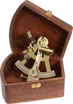 G3088: Marine Sextant Made of Brass in Precious Wooden 12 CM