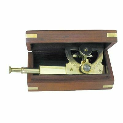 Angle Sextant, Maritime Sextant Brass in One Exotic Wood Box