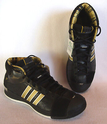 promo code 3434a 44ead RARE Adidas TS Pro New Orleans Model Black & Gold 2008 Basketball Shoes  SZ13 NEW