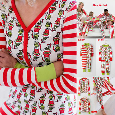 Family Matching Xmas Pajamas Sets Yuletide Christmas PJs Fun Sleepwear Nightwear