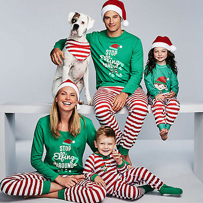 Family Matching Children Adults Kids Yuletide Christmas Parent-child Pajamas set