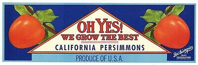 California Pear Crate Label z *AN ORIGINAL LABEL* OH YES Vintage Marysville