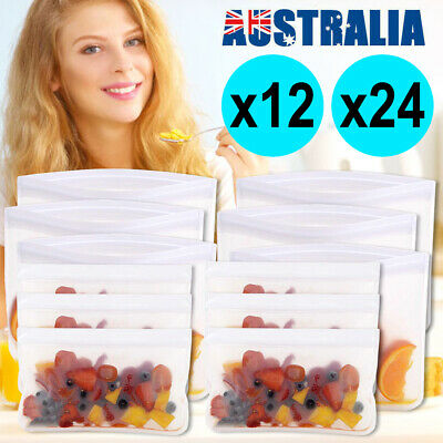 16X Reusable Silicone Food Preservation Bag Airtight Seal Food Storage Container