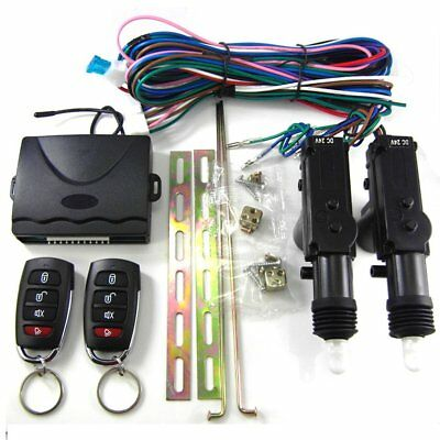 2 Door Remote Control Car Central Locking Security System Keyless Entry Kit d5
