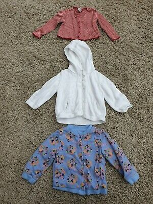 3x Baby GIRLS 6-9 months Cardigans Hoodie Tu M&S  Next Marks and Spencer VGC
