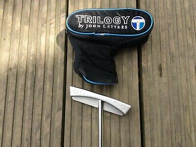 Trilogy Tramline 34inch Putter by John Letters with cover.