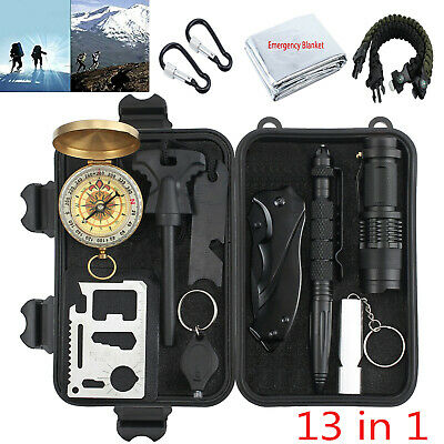 Emergency Survival Equipment Kit Outdoor Sports Hiking Camping Tactical Tool Set