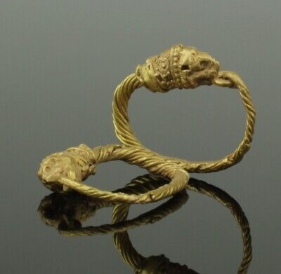 FABULOUS ANCIENT GREEK GOLD EARRINGS - 4th-1st Century BC 0111