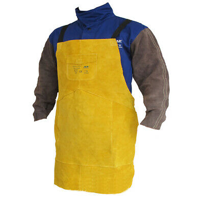 Leather Welding Apron Free Size Wear-resistant Anti-scalding Thicken Fireproof