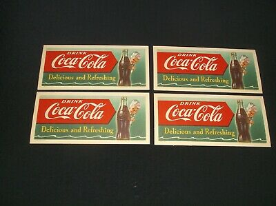 "Excellent Vintage NOS! 1942 COCA-COLA Coke Blotter /""Wherever thirst goes/"""