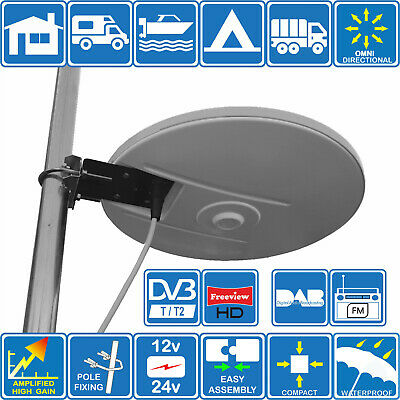 Helio - Mobil Digital Omni Directional Tv Fm Dab Aerial For Motorhome Boat Truck