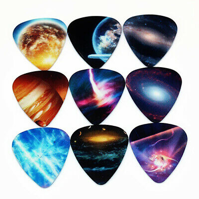 10x  0.46/0.71/1mm Mixed Celluloid Guitar Bass Picks Plectrums Electric Acoustic