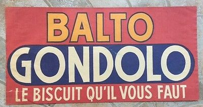 Ancien document chapeau publicitaire TOUR DE FRANCE BALTO GONDOLO Biscuit D